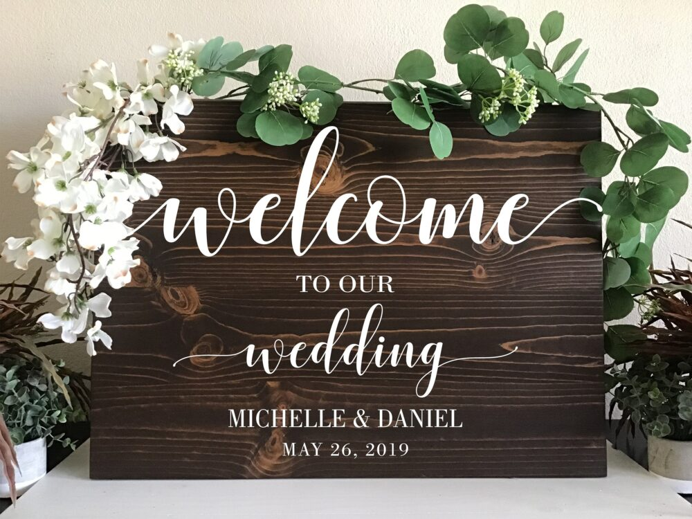 Wedding Welcome Sign Wood Wedding Rustic To Our Sign