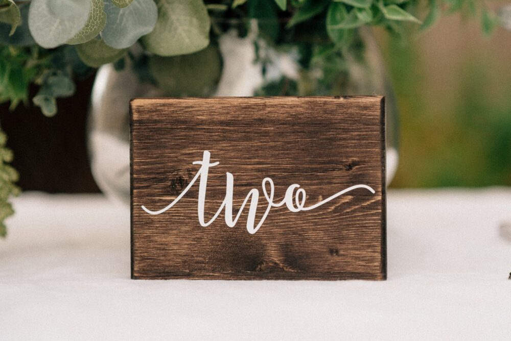 Table Numbers - Wedding Rustic Decor Wooden Reception