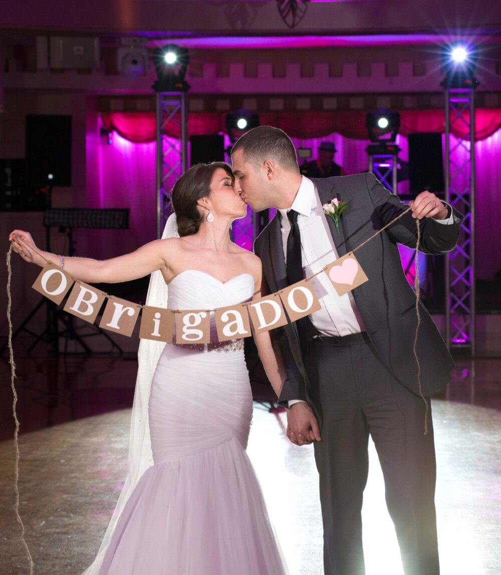 Thank You Sign/Rustic Wedding Banner Cards Couple Photo Prop/ Decor/ You in Other Languages