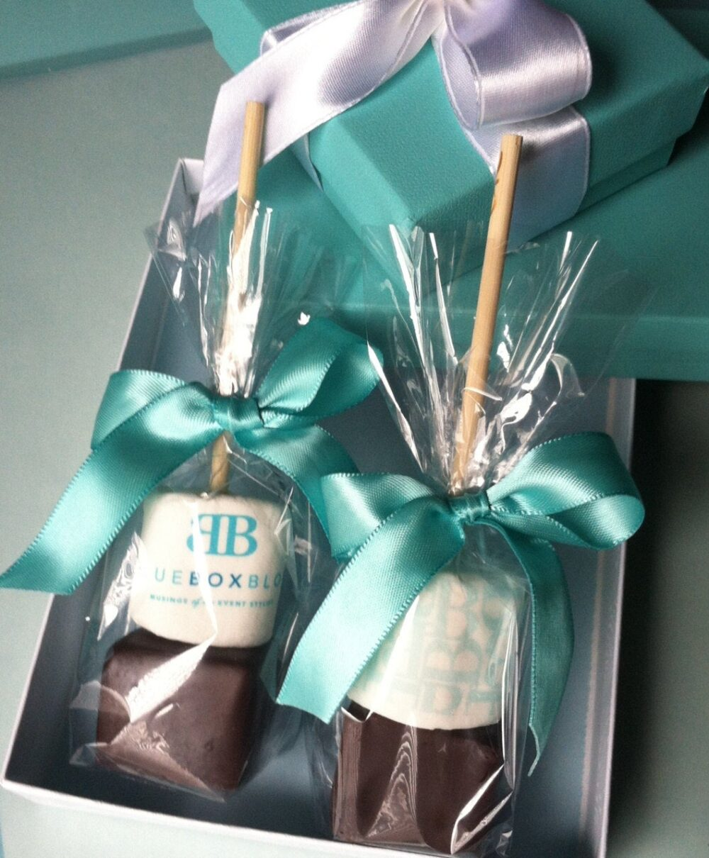 Hot Chocolate Wedding Favors. Unique Winter Wedding Favors. Robin Egg Blue. Set Of 12 With Customization