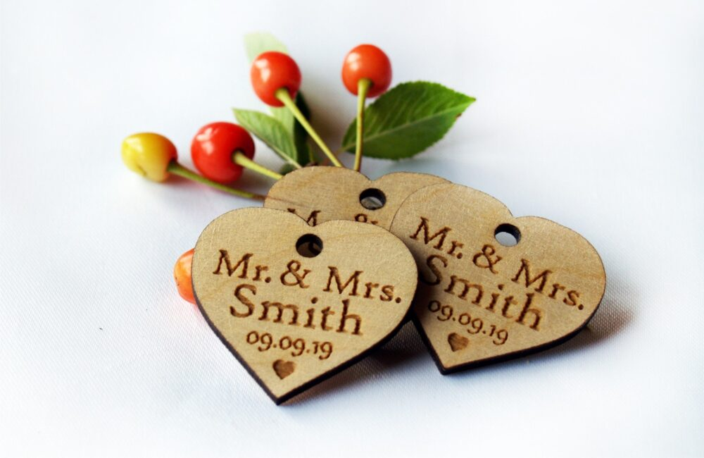Wedding Favor, Tags, Favor Wood Rustic, Wooden Hearts, Tags Favors