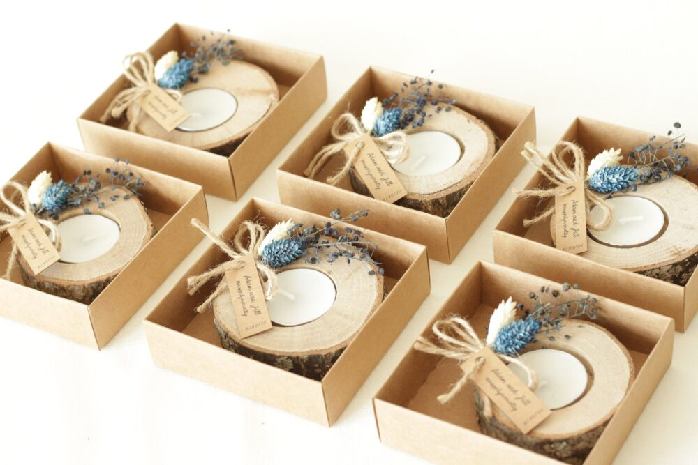 50 Pc Wedding Favors For Guests, Bulk Gifts, Rustic Wedding Favor, Personalized Favors, Wood Tealight Holder, Unique Gift, Thank You