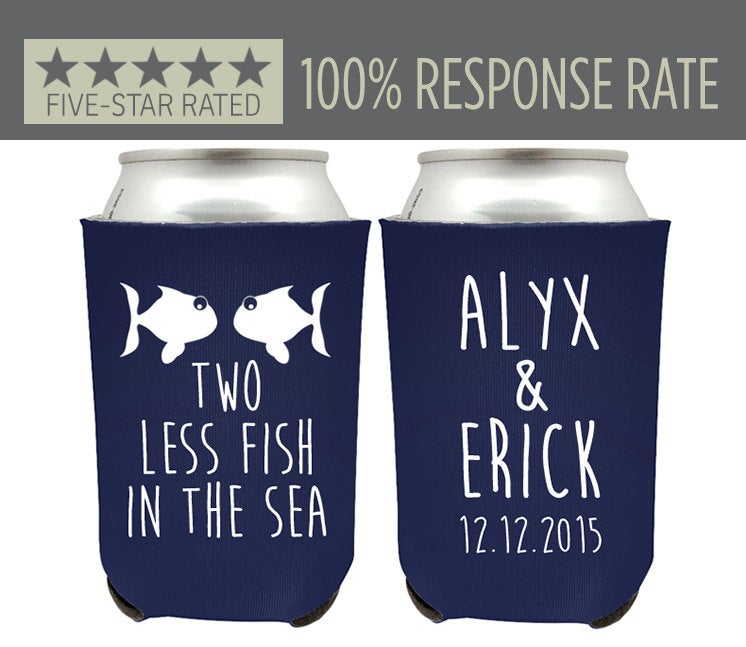 Personalized Can Cooler, Personal Custom Beer Huggie, Gift, Wedding Beach Cooler | 21