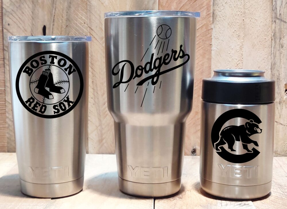 Yeti Stainless Steel Tumbler Laser Engraved 20 Or 30 Oz., Colster - Select Your Mlb Baseball Team, Personalized