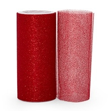 Red Sparkling Tulle Roll Colored - 6 X 25yd - Fabric - Width: 6 by Paper Mart