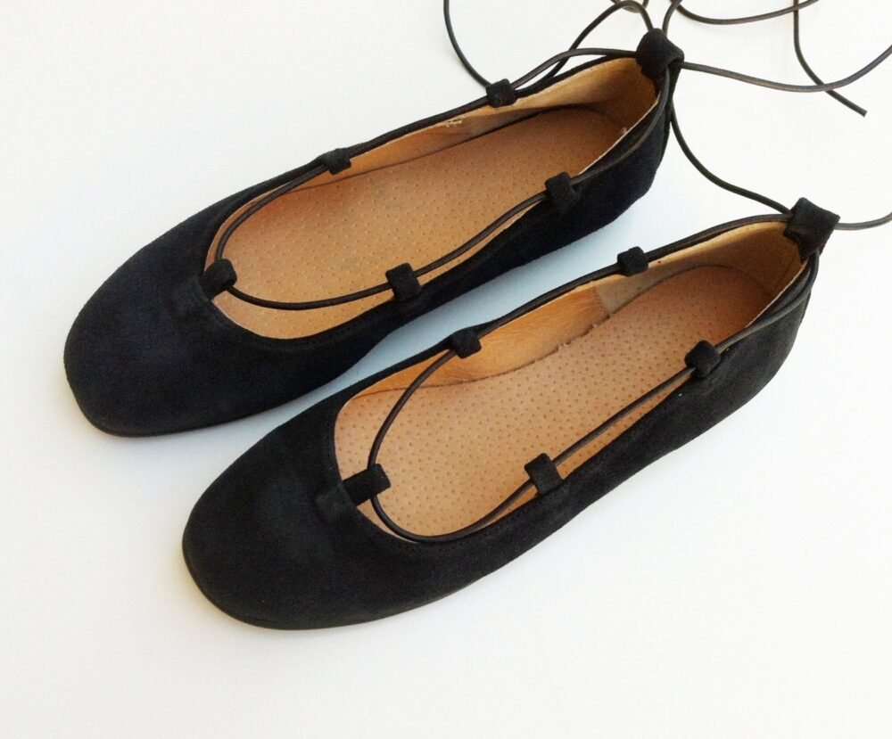 Black Ballet Shoes, Black Suede Shoes, Womens Flats Gladiator Gladiator Leather Shoes