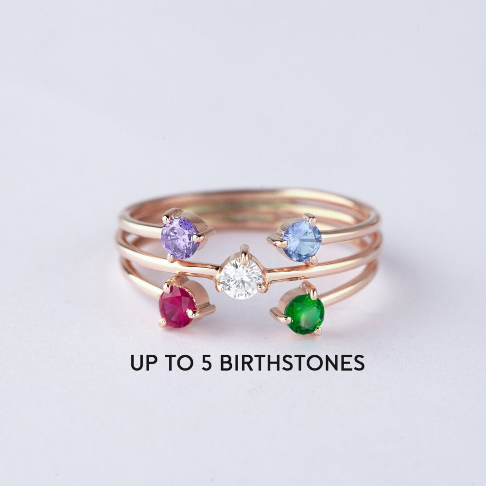 Birthstone Ring For Mom, Mother Jewelry, Kids Ring, Family Personalized Gift