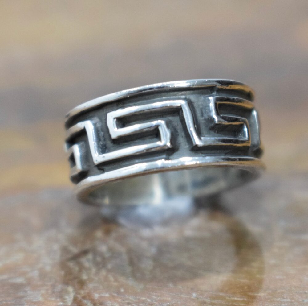 Ring Sterling Silver Etched Band