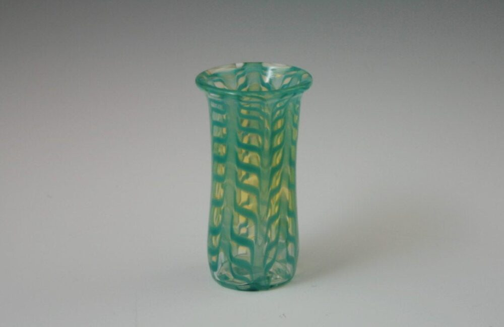 Hand Blown Glass Bud Vase - Wedding Guest Gift Table Decor Centerpiece Decoration Turquoise