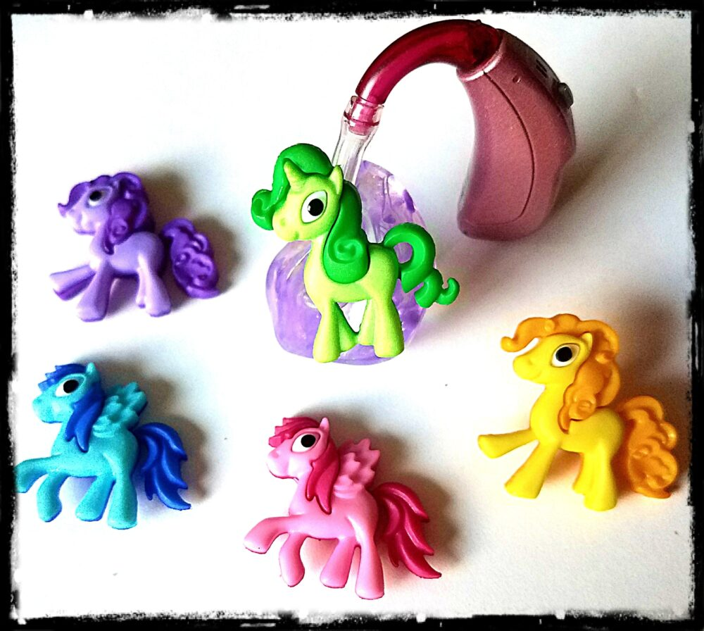 Hearing Aid Tube Trinkets Bright & Cute Little Ponies Please Select Quantity 2 For A Pair