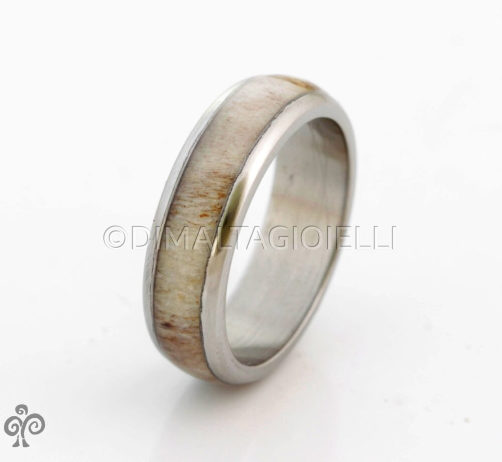 Antler Man Ring Titanium Dome Wedding Band For & Woman Unisex Rounded Engagement Size 3 To 16