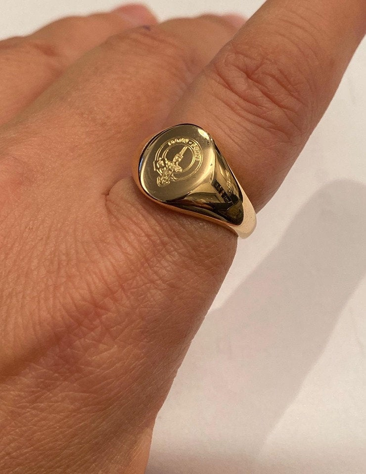 Coat Of Arms Family Crest Ring, Engrave Personalized Signet Special Gift For Women/Men, Pinky Ring