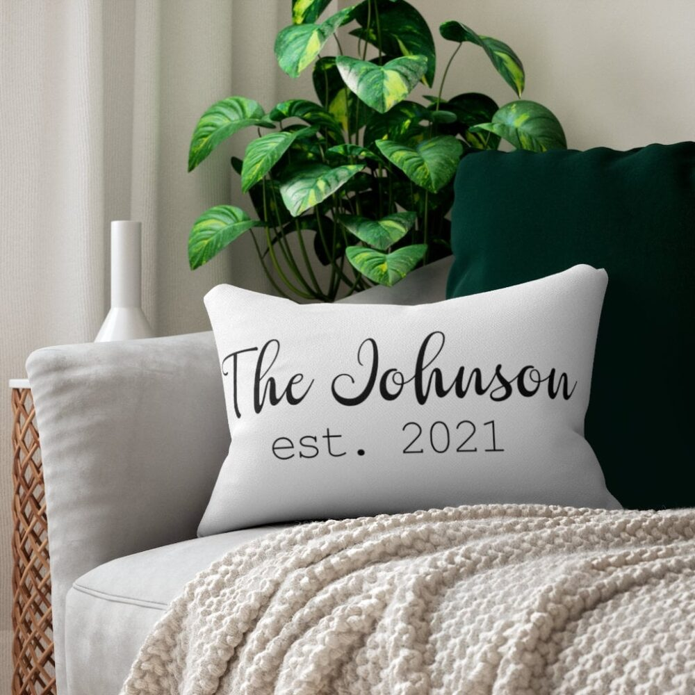 Personalized Wedding Pillow, Gift, Custom New Family Name Throw Pillow, Personalized Pillow
