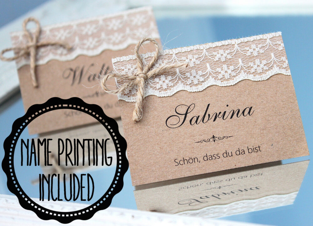 Rustic Place Cards, Wedding Country Name Cards For Wedding