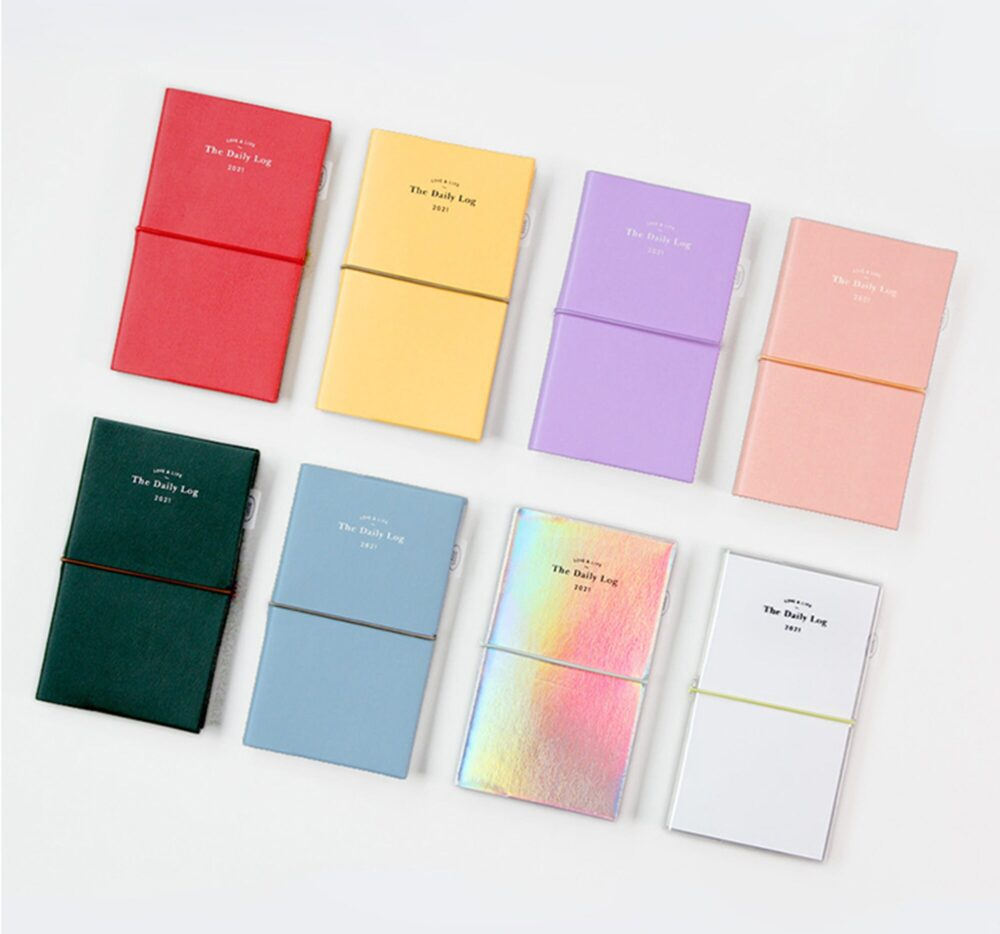 2021 Daily Log Planner - Weekly & Monthly 8 Colors   Hologram Diary Agenda Calendar Journal