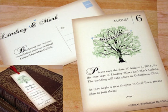 Vintage Book Save The Date Cards, Wedding Postcards, Literary Invitations, Lover Card Set, Nerd Wedding, Book Page Invites