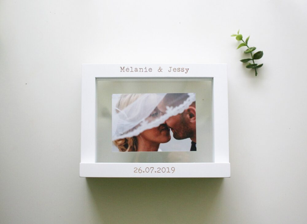 Personalized Wedding Sand Ceremony Photo Frame - Unity Picture Gift Anniversary Naming Day