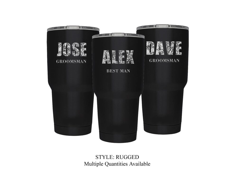 Groomsman Gift - Personalized Engraved 30 Ounce Stainlesss Steel Insulated Tumbler, Groomsmen Gift, Like A Yeti...but Better; Choose Qty