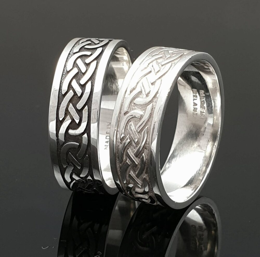 Celtic Wedding Band - Ladies & Gents Ring Unique Handmade in Lreland Free Worldwide Shipping Engraving