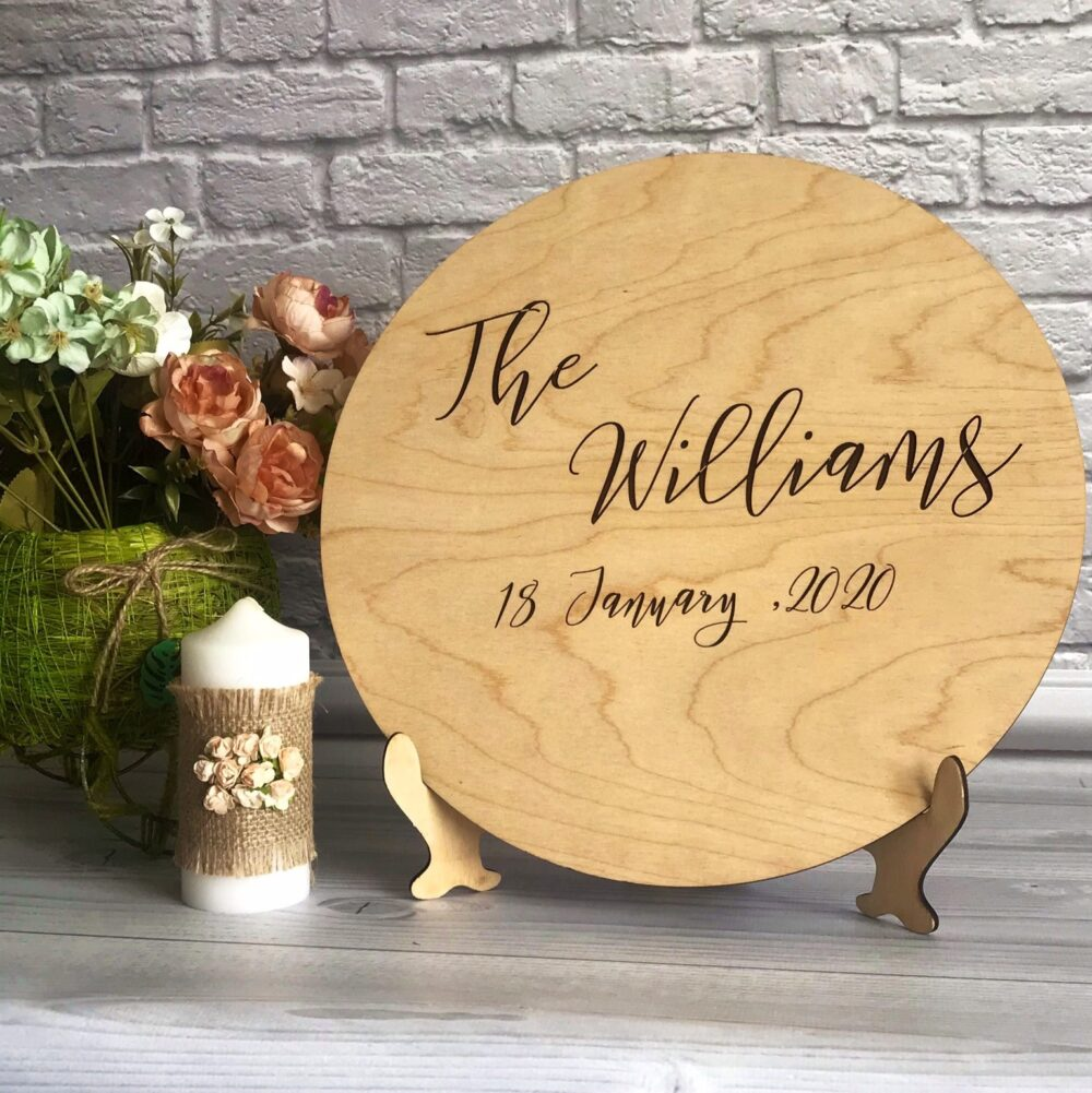 Wedding Family Name Wood Sign, Custom Guest Book, Rustic Guestbook, Sign Our Canvas, Guestbook Wood, Unique Wood Wedding Sign