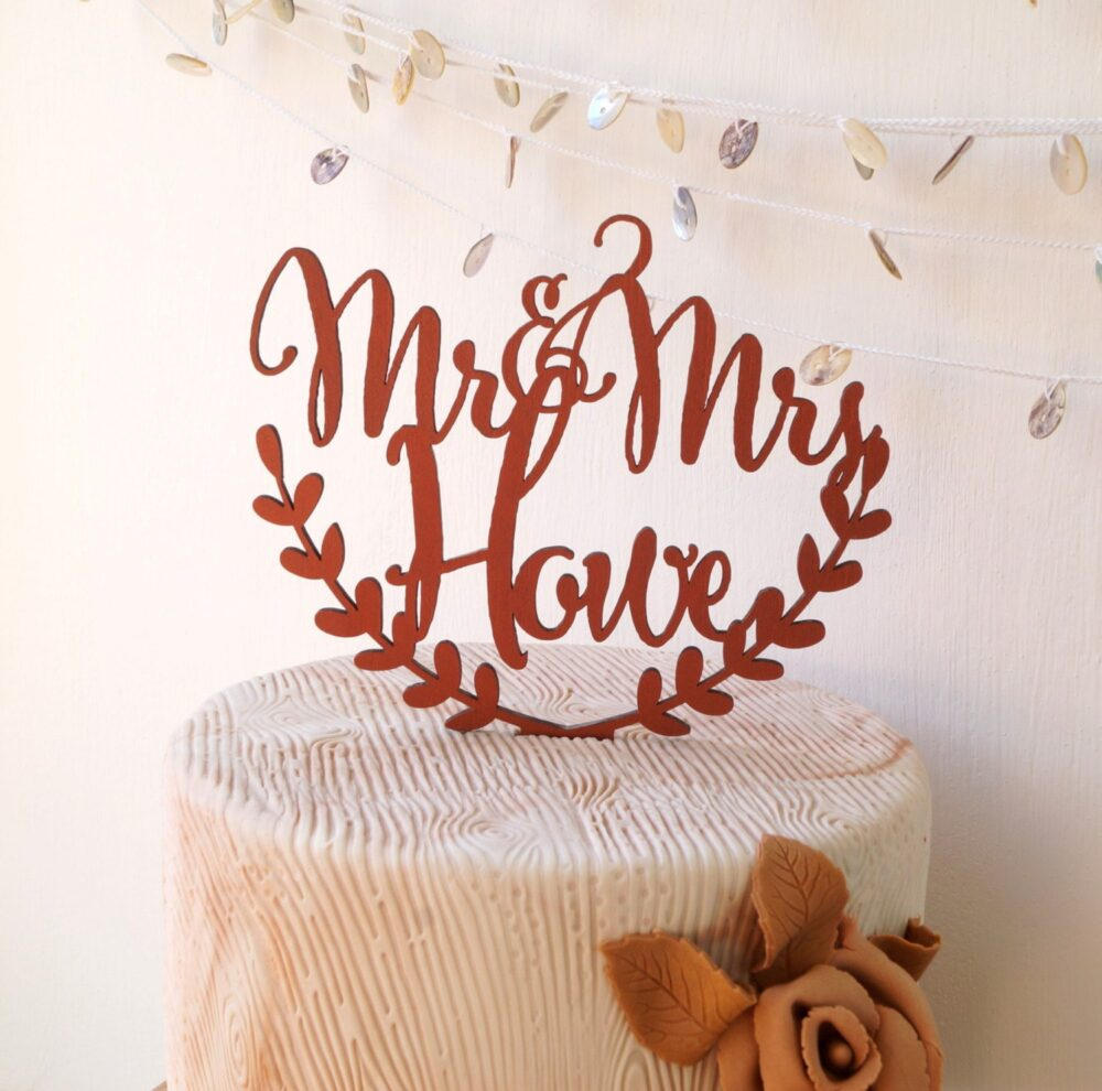 Personalized Cake Topper, Wedding Rustic Names Wooden Topper