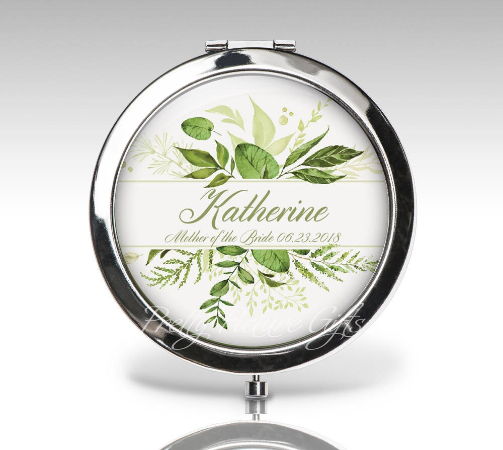 Bridesmaid Compact Mirror, Wedding Gift, Bridal Party Personalized Custom Bride Mother Gift C100