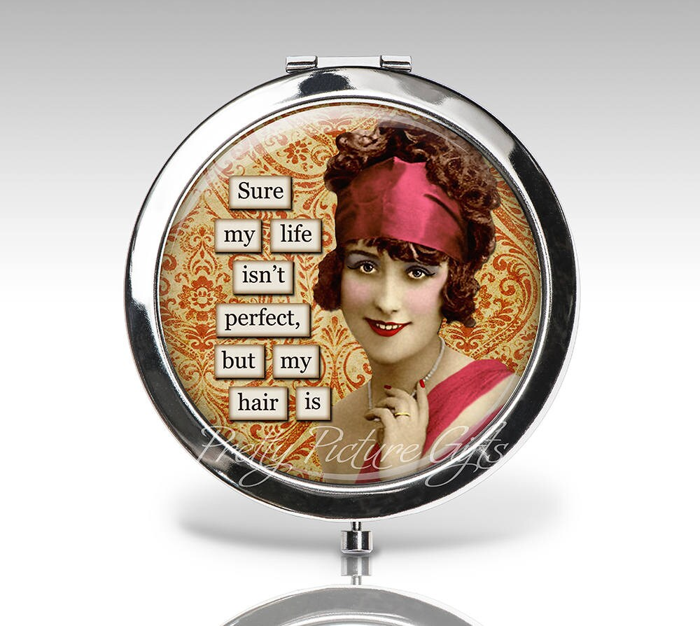 Custom Compact Mirror, Funny Wedding Party Favor Magnifying Gift For Her Personalized Compact, Bridesmaids Gifts, Mirror C88