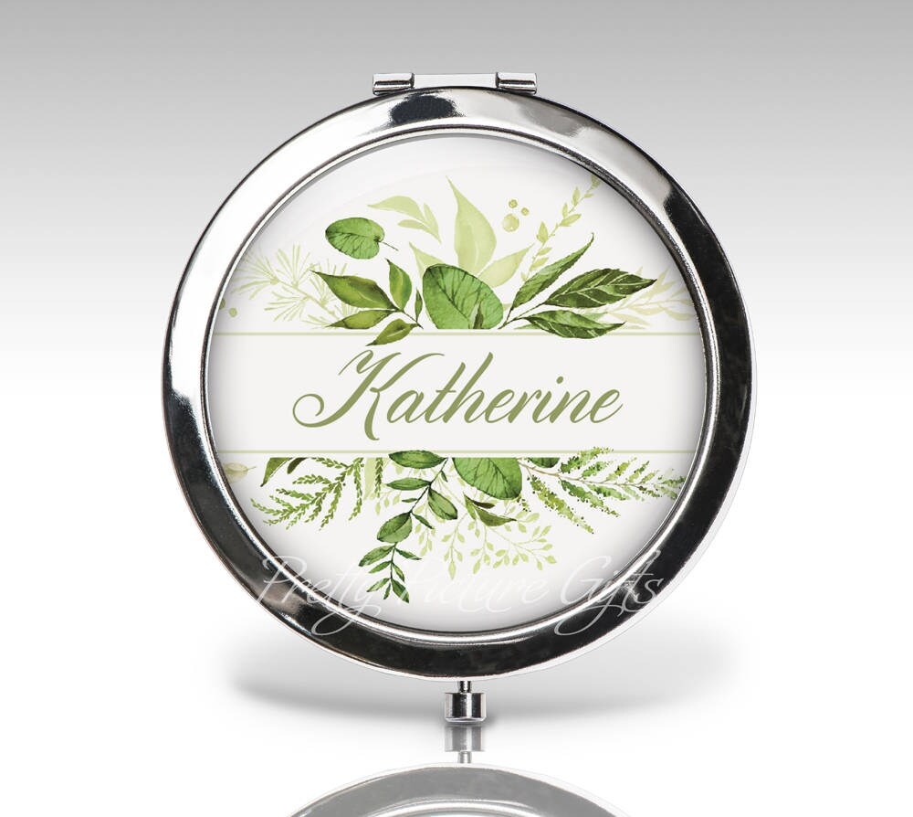 Bridesmaid Compact Mirror, Wedding Gift, Bridal Party Personalized Custom Bride Mother Gift C101