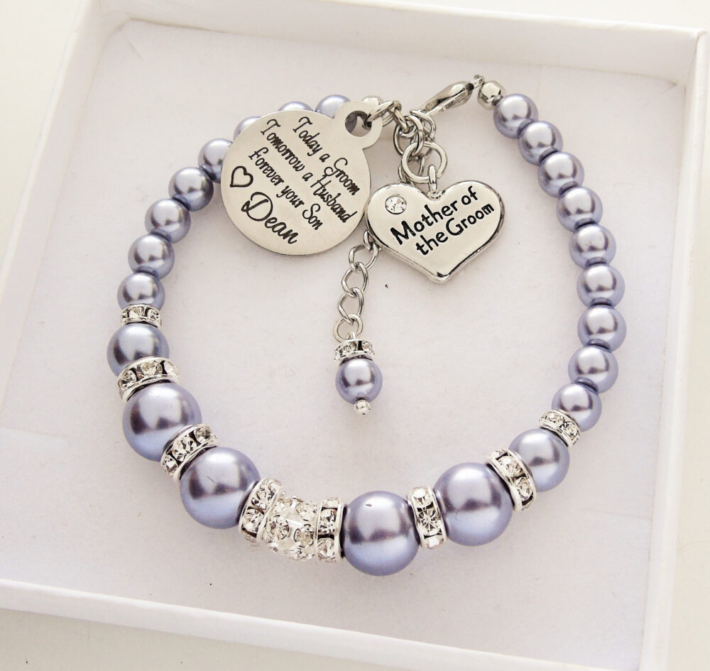 Mother Of The Groom Gift Personalized Today A Groom Wedding Bracelet Grooms Mother Jewelry From To His Son