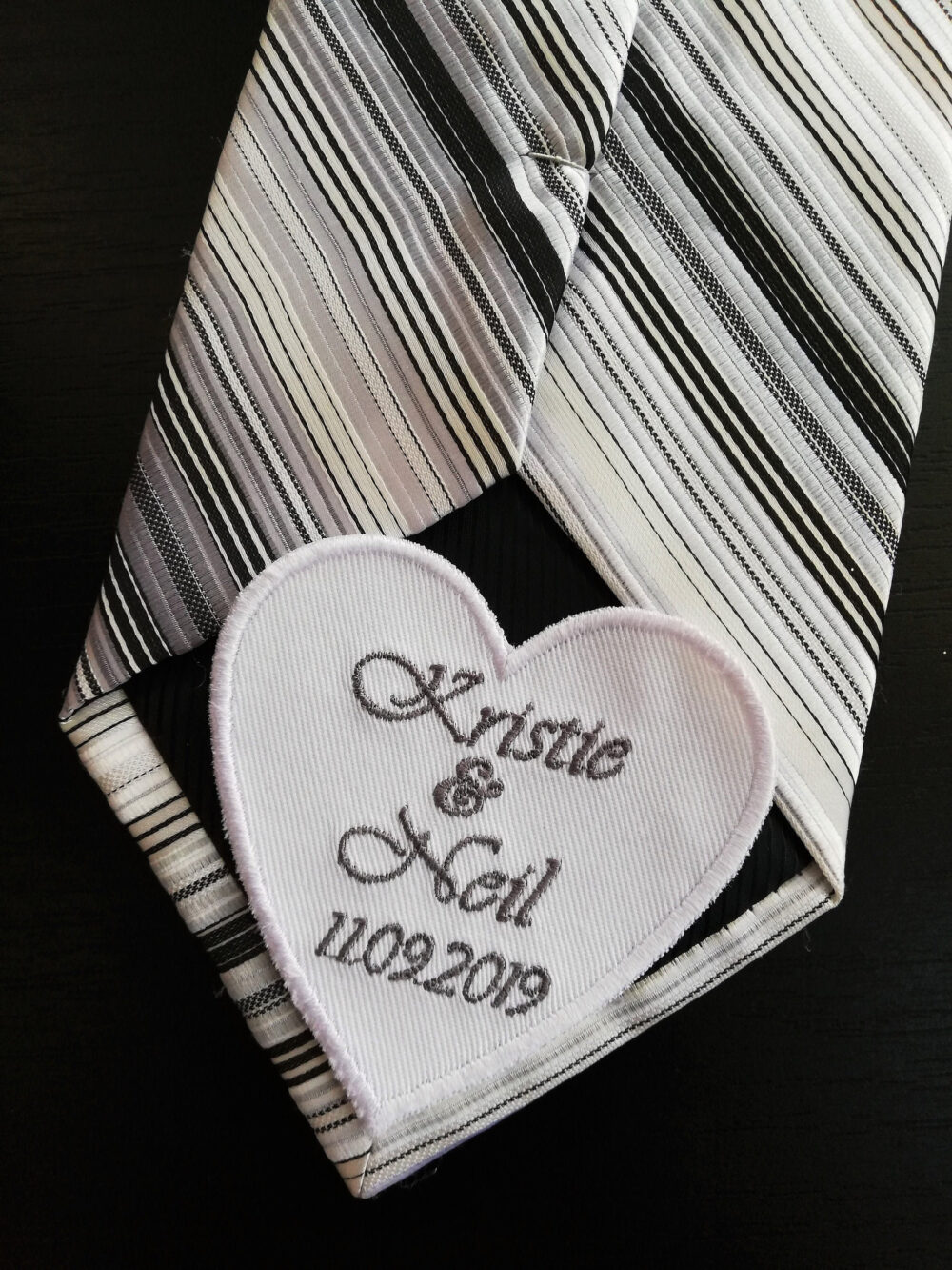 Wedding Tie Patch Groom Wedding Gifts From The Bride Day Gift Suit Label Custom Future Husband Embroidered