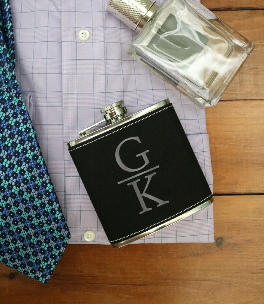 Personalized Initials Wedding Gift, Flask, Hip Custom Engraved Drink Flask