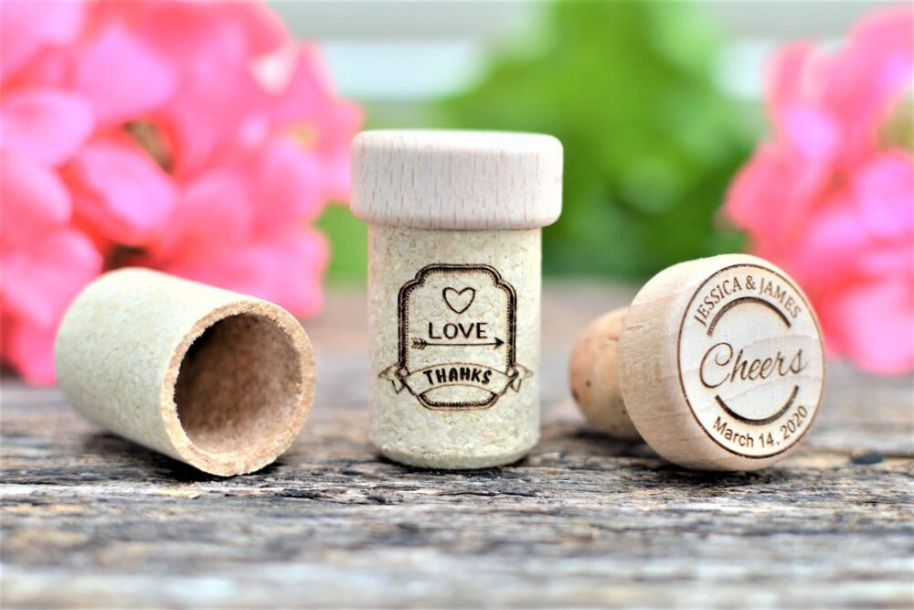 Wedding Party Favors - For Guests in Bulk Engraved Wine Stoppers
