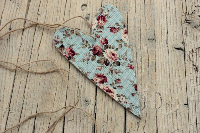 Wooden Vintage Floral Heart - Wedding Rustic Bohemian Decoration Wood Shabby Chic Wedding Decor Favor Country Chic