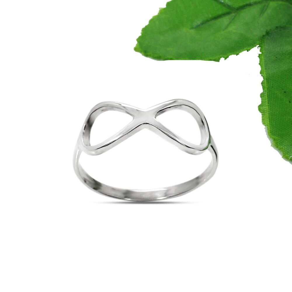 sterling Silver Plain Infinity Band Ring Gift For Newlywed