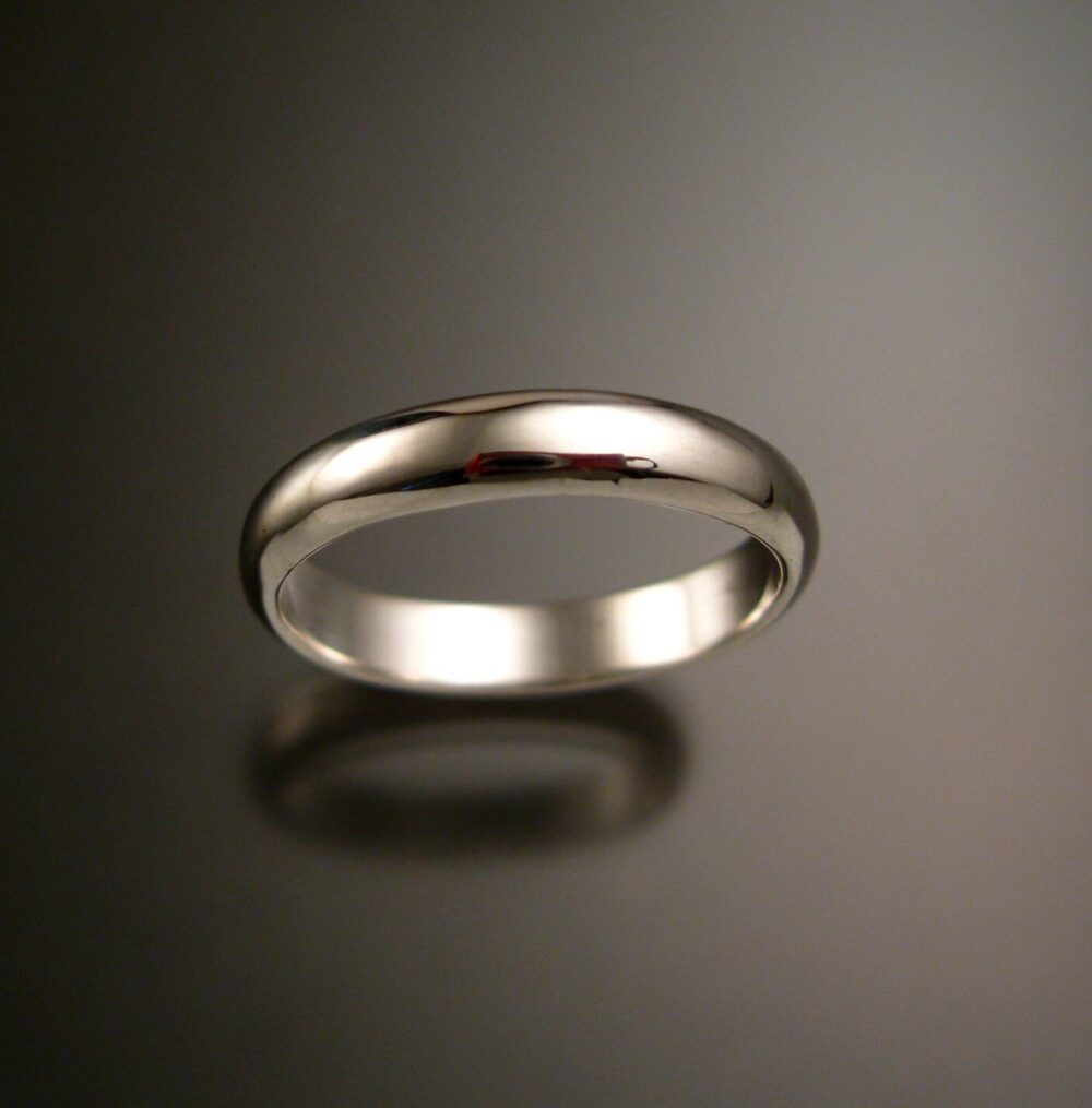 sterling Silver Wedding Ring Band Handmade To Order in Your Size