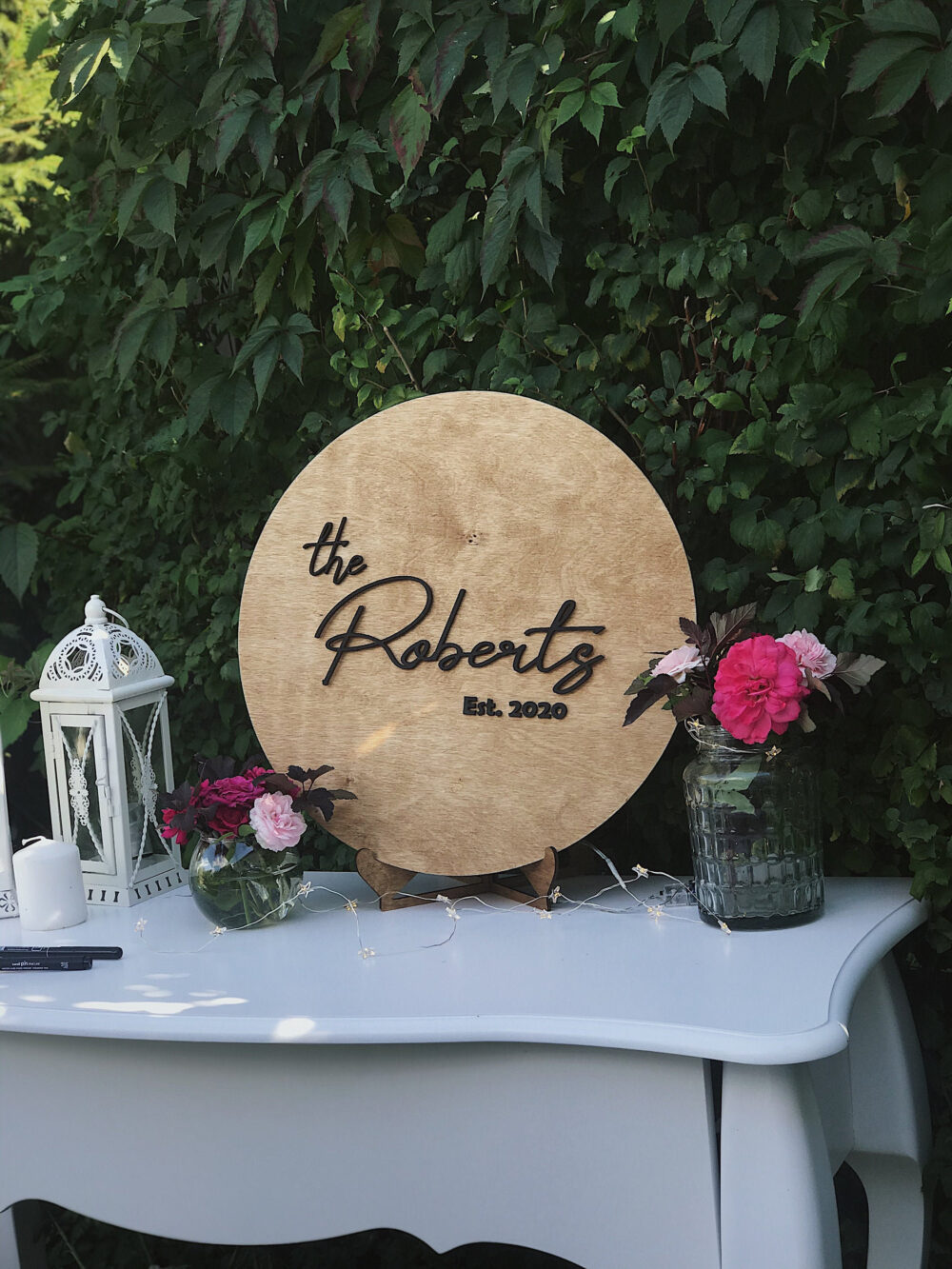 Wedding Welcome Sign, Guest Book Alternative, Wooden Reception Sign