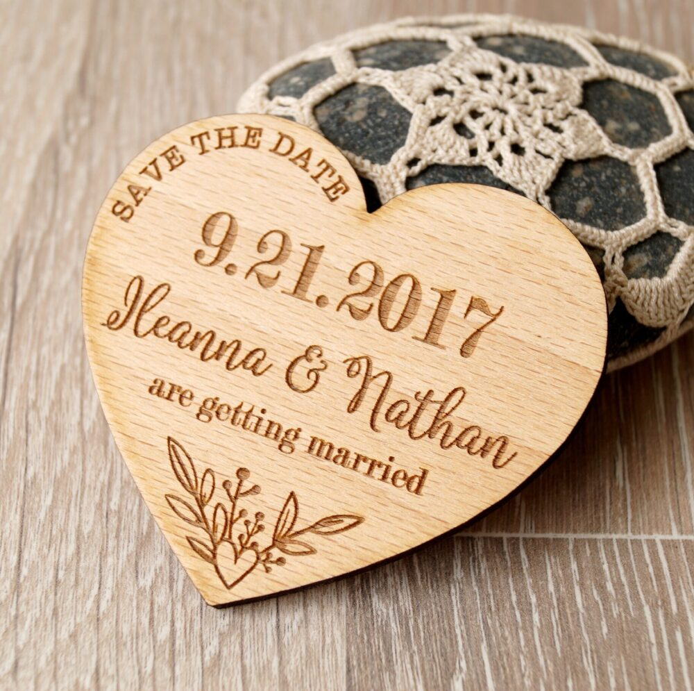 Save The Date, Save Date Magnet, Rustic Cave Wooden Wedding Dates, 25 Pc