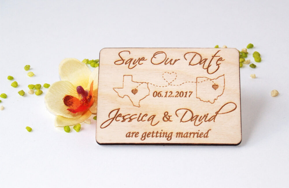 Save The Date Invitations, Rustic, Magnet, Wood Save Date, Magnet Wooden