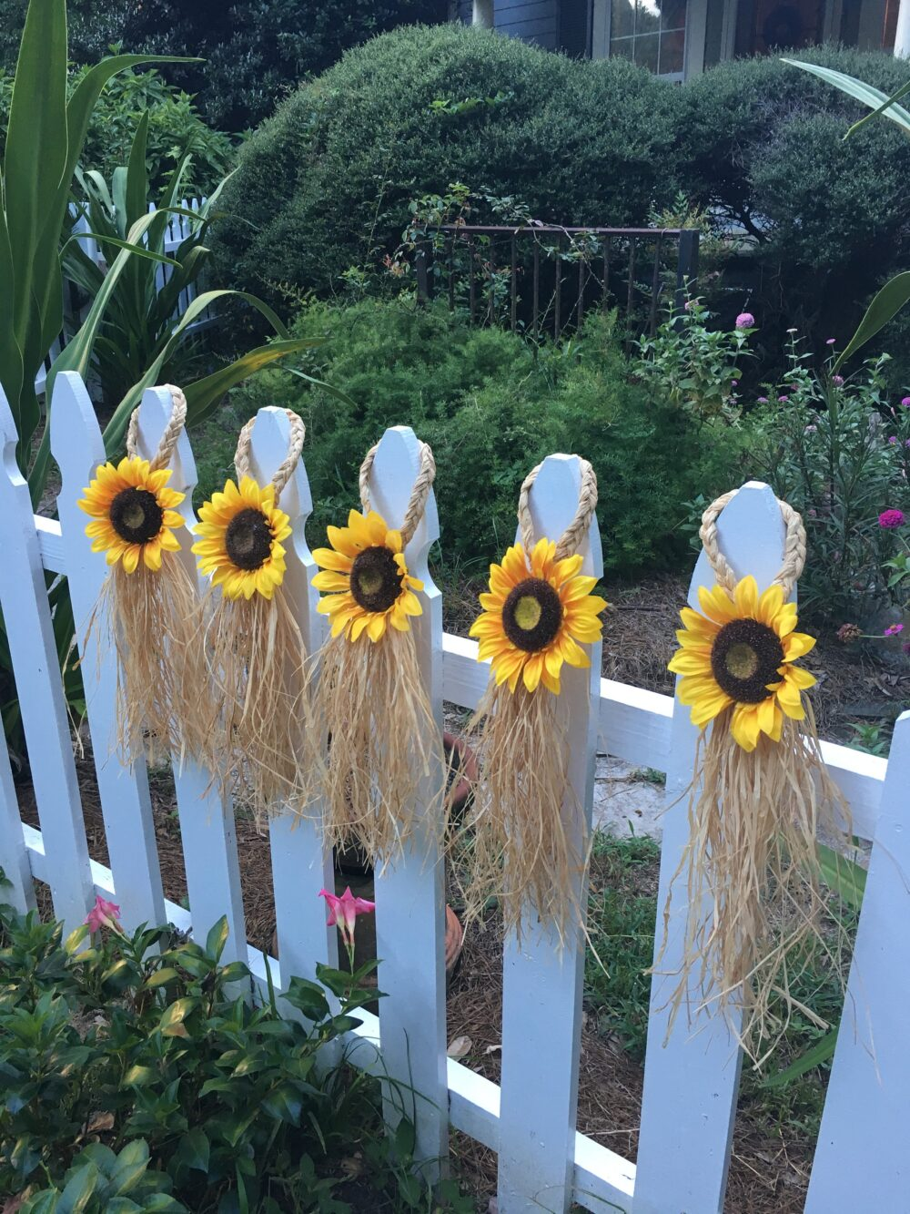 Sunflower Country Wedding Chair Hanger, Aisle Marker Decoration, Pew Bows, Shabby Chic Decoration