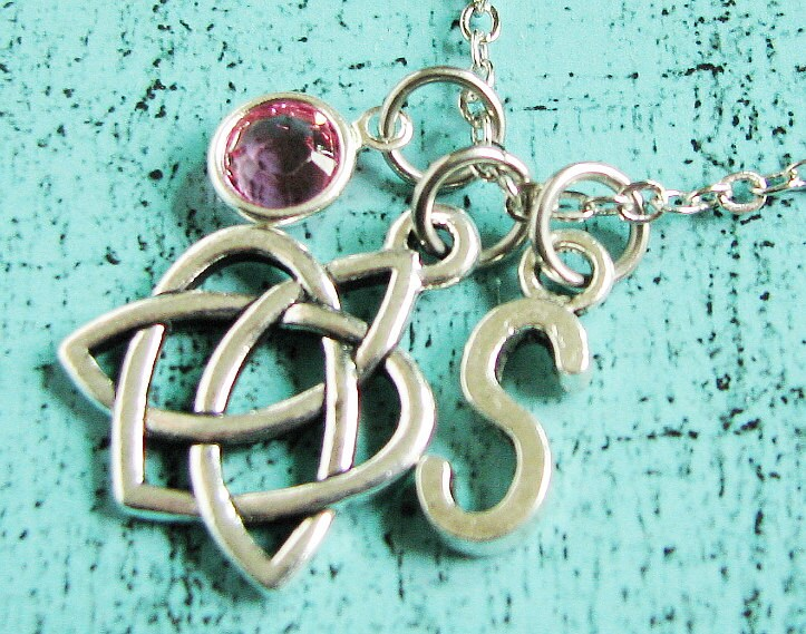 Bridesmaid Gift, Celtic Heart Necklace, Irish Love Knot Jewelry, Bridal Party Wedding Proposal Gift Fiance