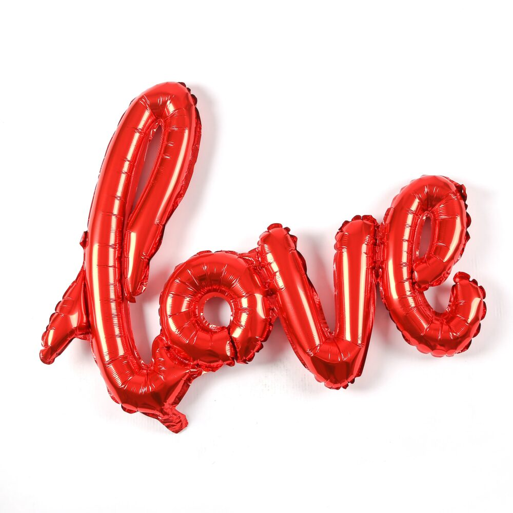 Love 40 Inch Giant Love Script Balloon 4 Colors   Engagement Party Decoration Balloons