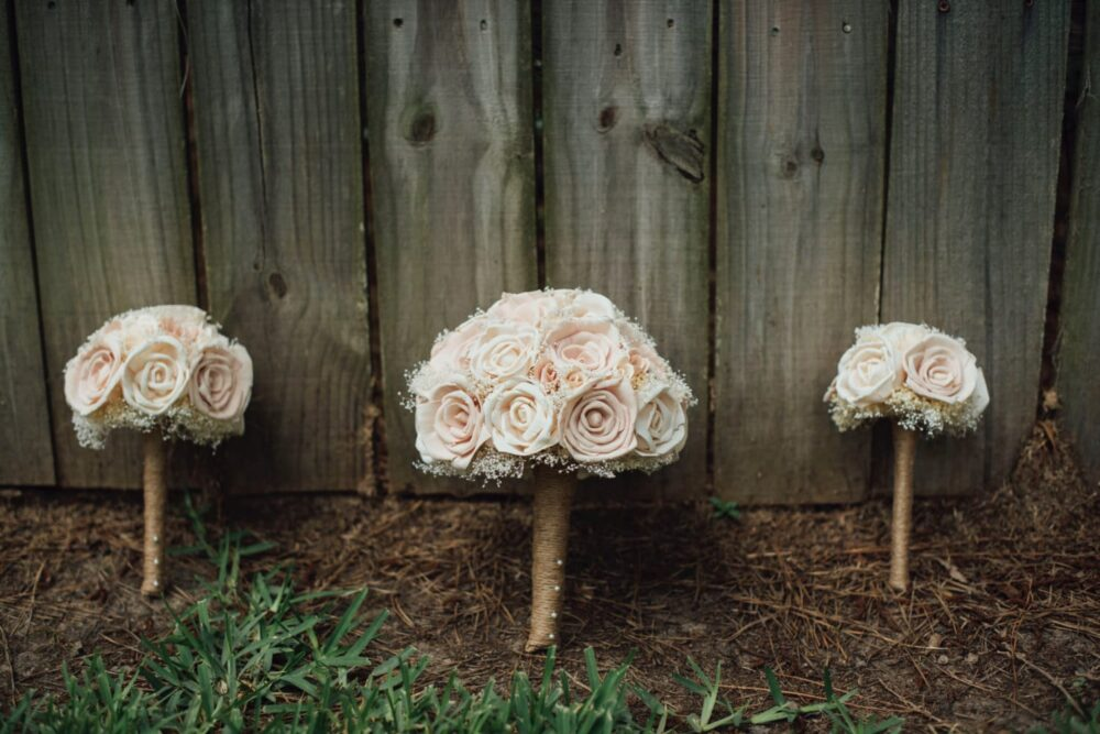 Blush Pink Wedding Bouquet Made With Sola Flowers - Choose Your Colors Custom Alternative Bridal Bouquet Bridesmaids