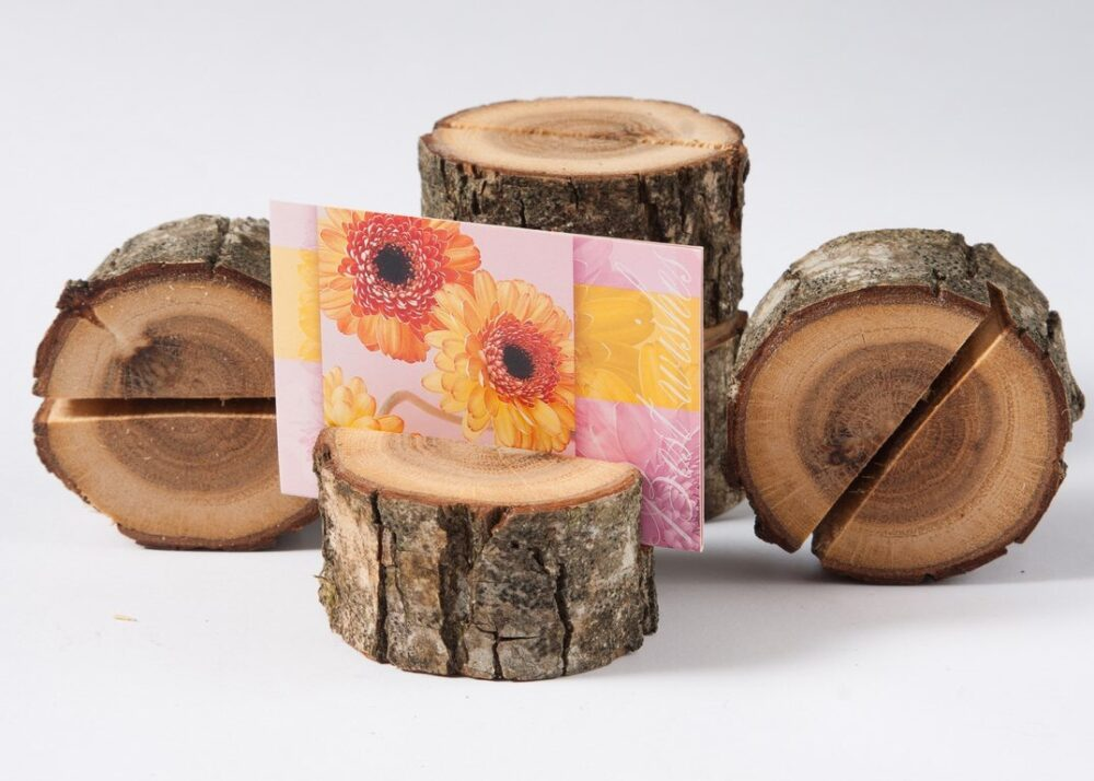 10 Rustic Wedding Table Number Holder, Place Card Name Tag Stand, Decor