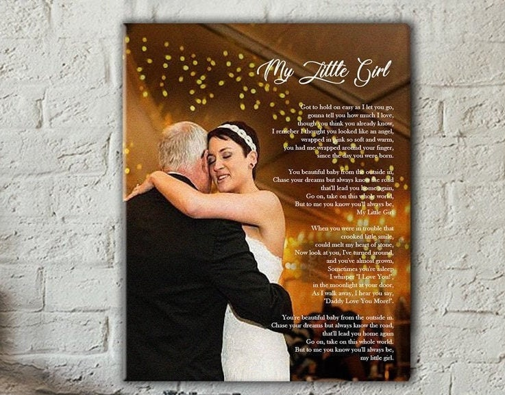 Gift For Father - Of The Bride Fathers Day Gift Dad Custom Speech
