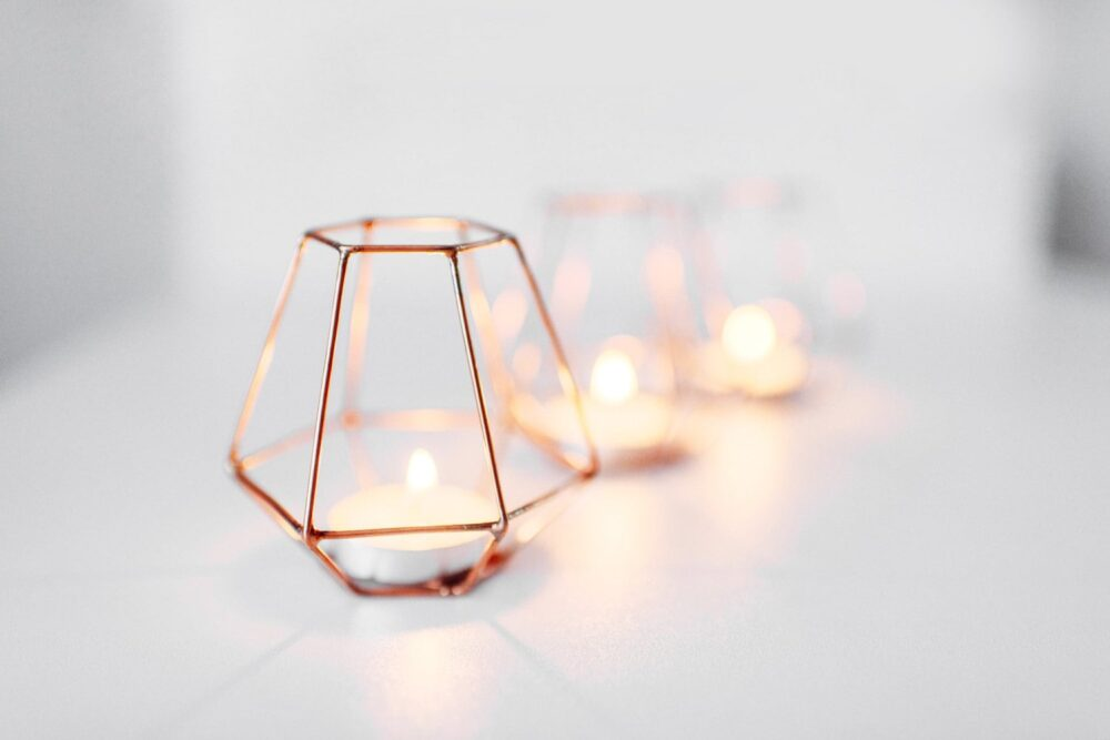 Copper Wire - Decor Wedding Candleholders Table Centerpiece Candle Holder Holders