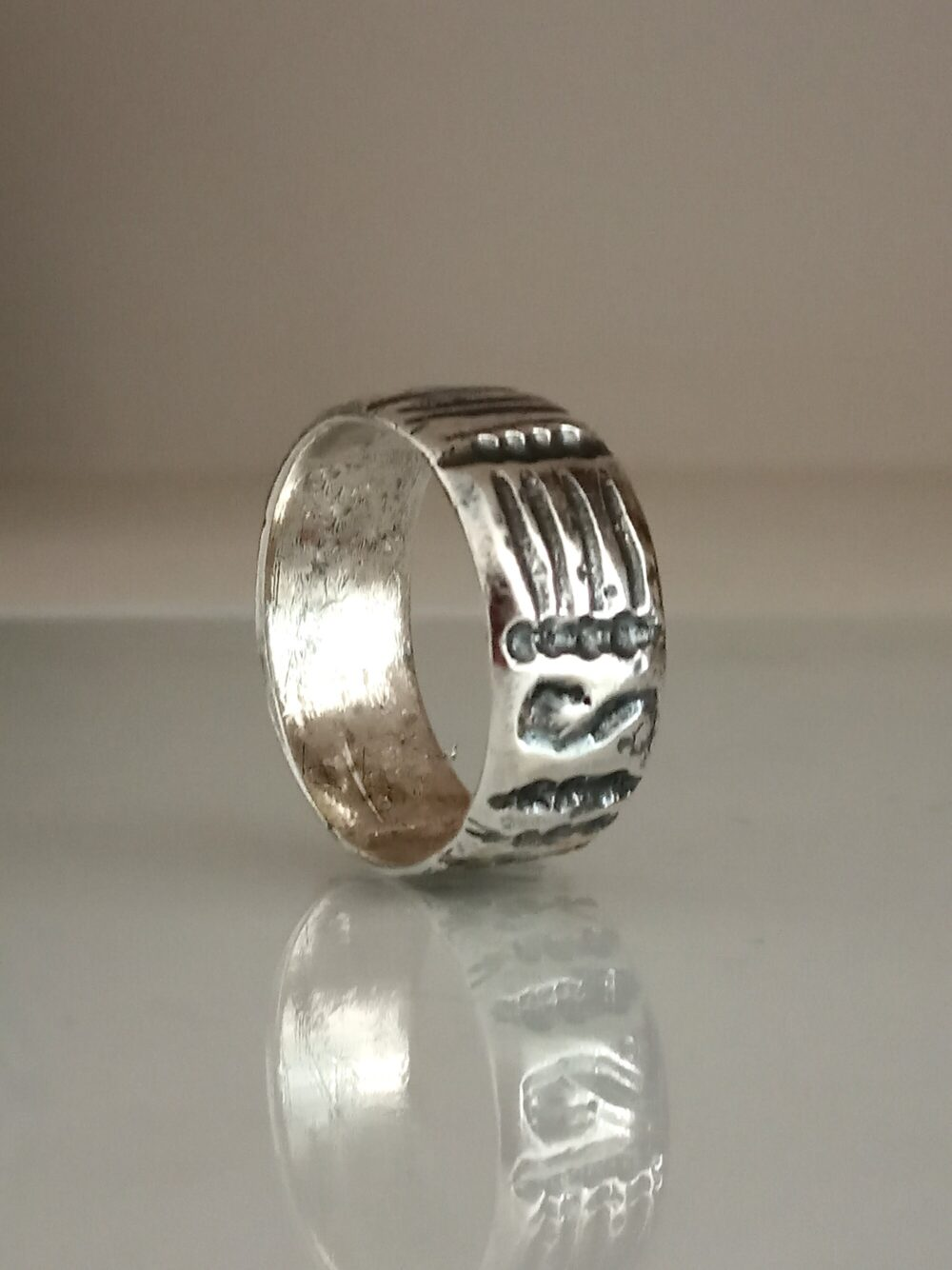 Sterling Band Ring, Wide Band, Wide Silver Ring, Sterling Ring, Hammered Band, Textured Hammered, Bohemian Silver, For Him