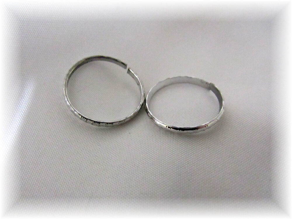 Gold Or Silver Faux Wedding Bands, Fake Rings
