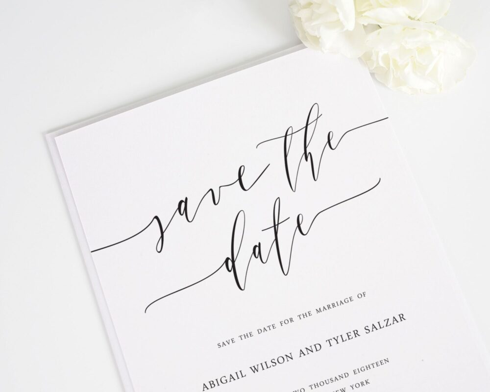 Romantic Calligraphy Save The Date - Deposit