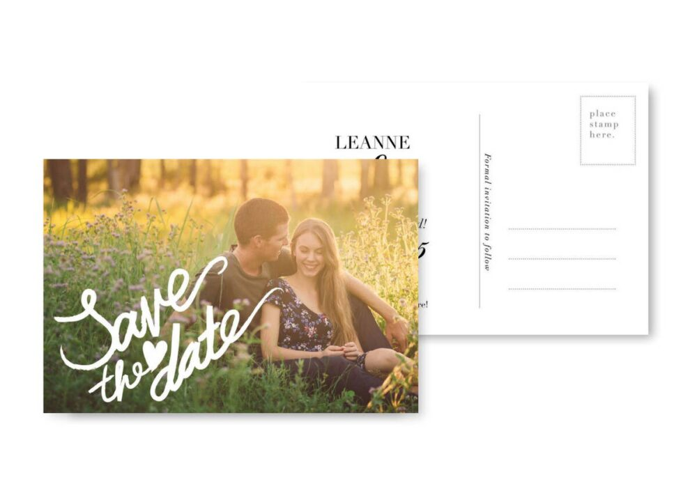 Save The Date Postcard Template Wedding Photo Cards Download