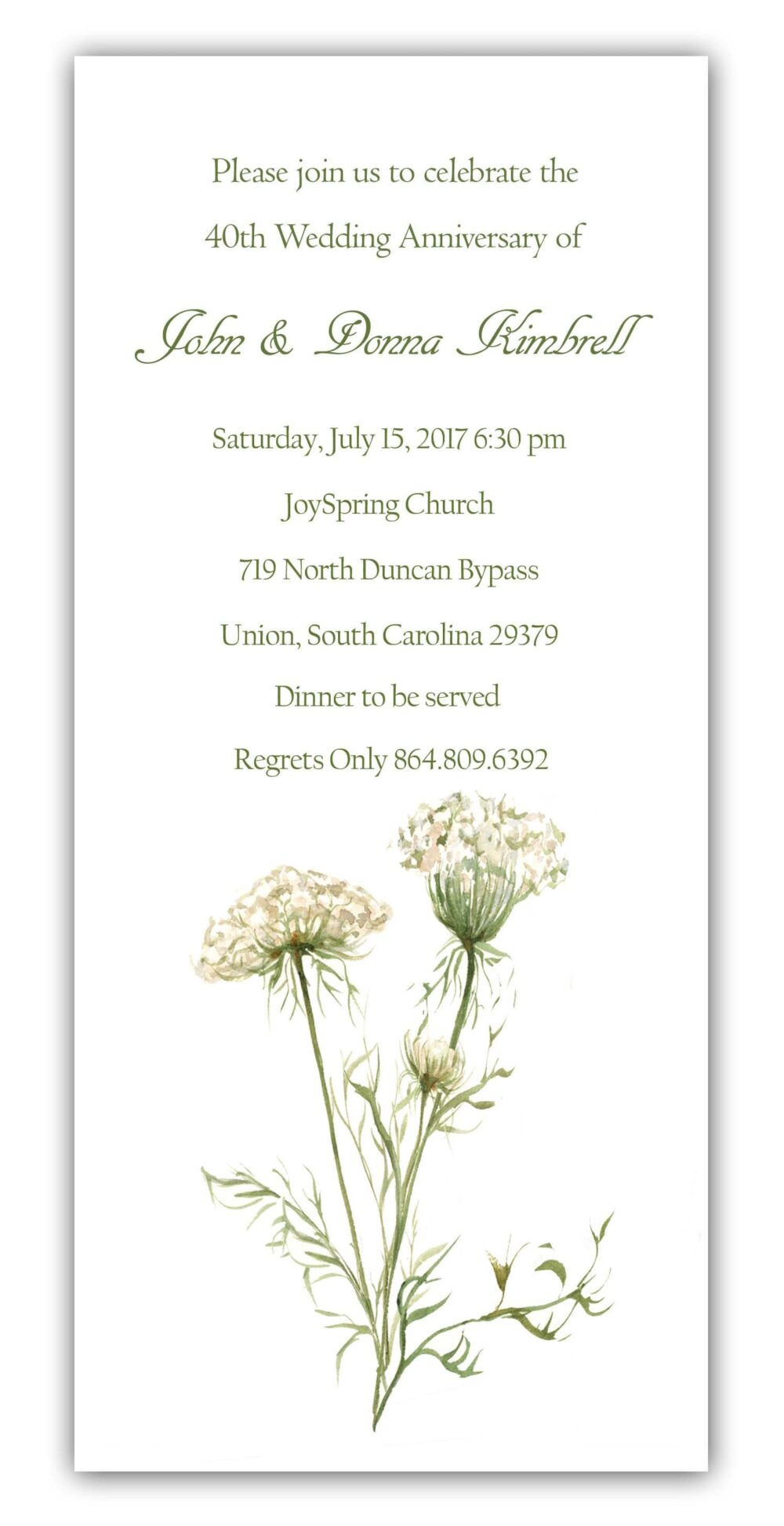 25 Queen Anne's Lace Invitations, Rehearsal Dinner Wedding Save The Date, Wedding, Anniversary